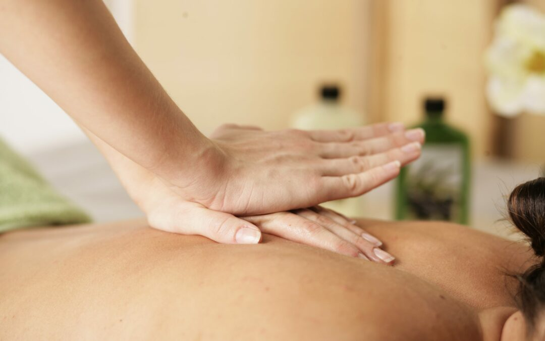 Massage and stretches to improve posture and reduce headaches
