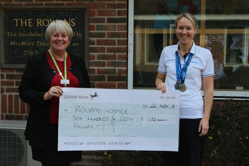 Physio-logical raises £650 for Rowans Hospice
