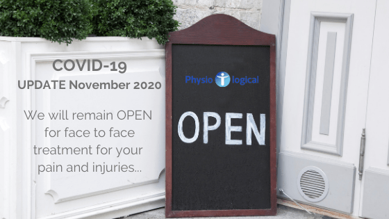 Covid Update – Nov 2020 We remain OPEN during lockdown
